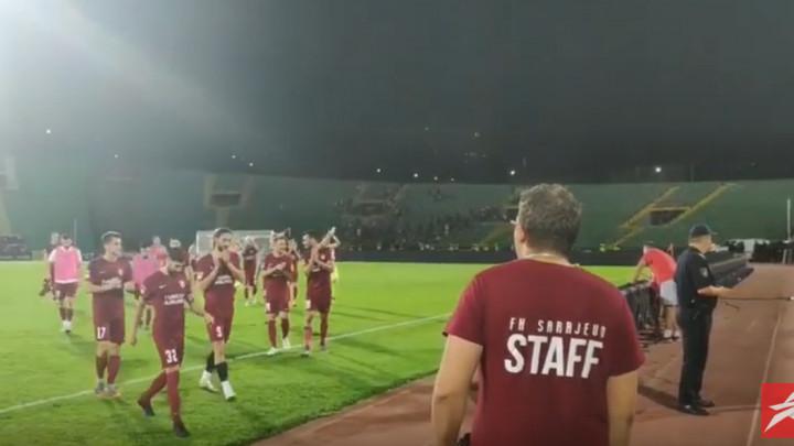 Kako su navijači Sarajeva ispratili svoje ljubimce u svlačionicu?