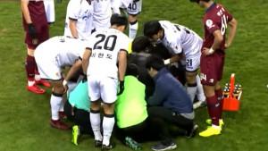 Stravičan pad nogometaša 'zaledio' stadion u Koreji