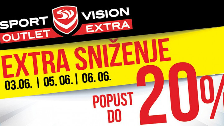 Extra sniženje u Sport Vision Outlet Extra