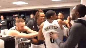 Fantastična atmosfera u svlačionici Brooklyn Netsa nakon pobjede protiv Clevelanda