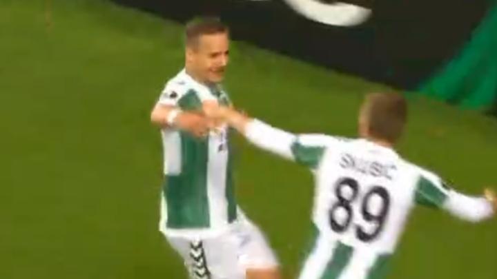 Deni Milošević sjajno pogodio za 2:0 protiv Guimaraesa
