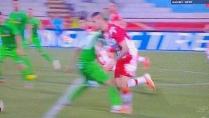 Ostat ćete u nevjerici: Pogledajte kakav penal je dosuđen Crvenoj zvezdi