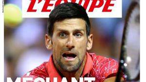 Đoković i dalje na udaru: Ugledni L'Equipe posvetio naslovnicu neodgovornom teniseru