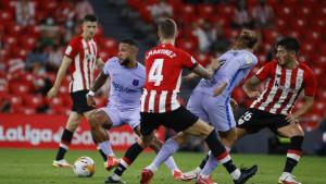 Athletic Bilbao se ispromašivao protiv Barcelone, Depay donio bod Kataloncima sjajnim golom