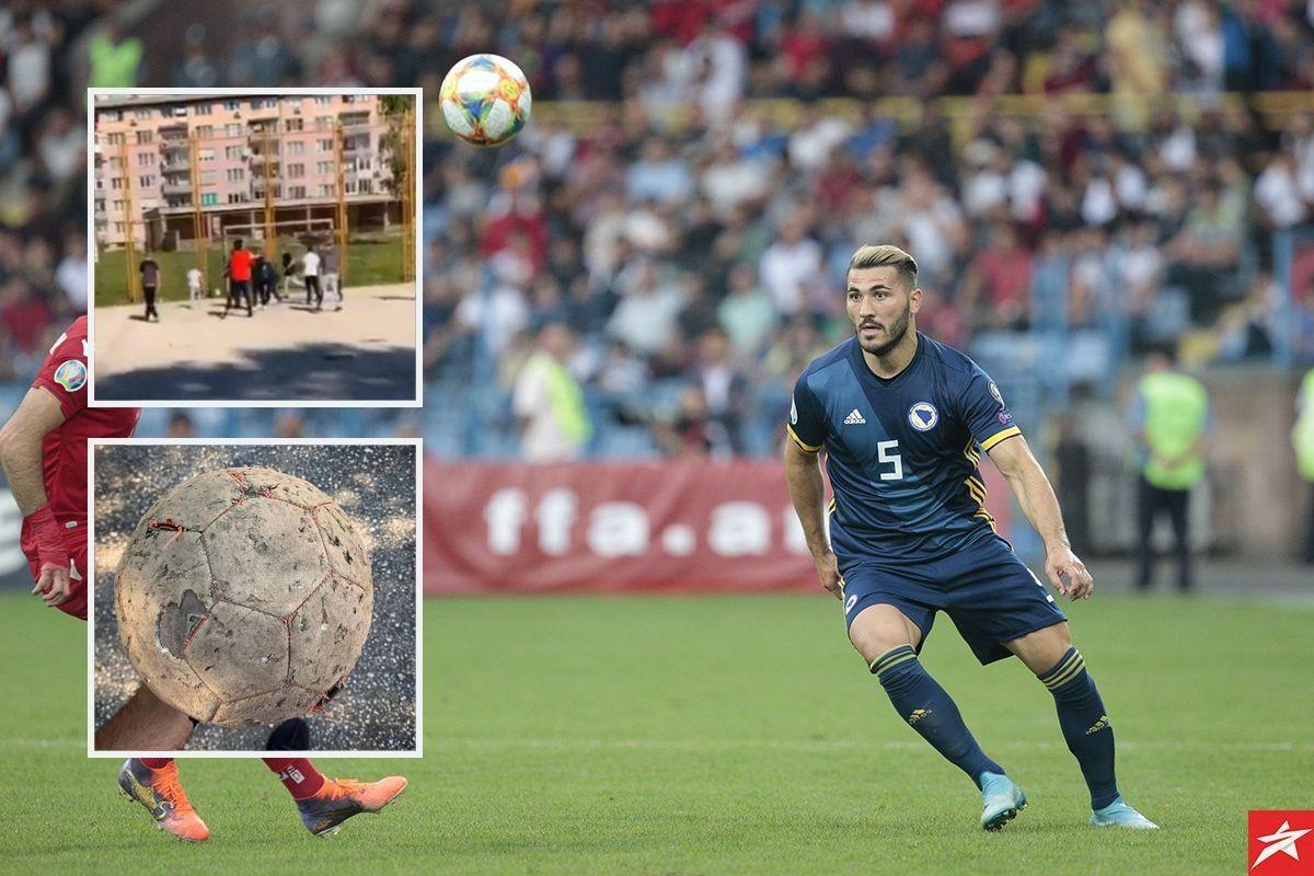 Sead Kolašinac iznenadio djecu na igralištu u Sarajevu, pa se oglasio na Instagramu