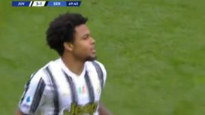 Totalno zbunjen: Igrač Juventusa nije mogao da vjeruje da mu je priznat gol