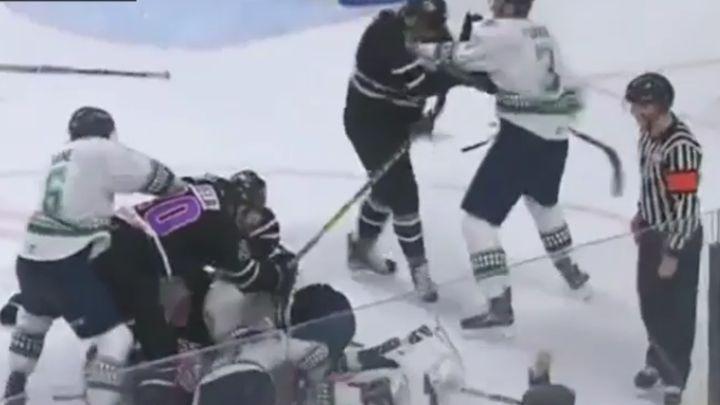 Masovna tuča na ledu, nastradale i sudije