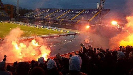 Hajduk slavio u Zagrebu, Torcida se tukla sa policijom