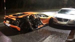 Zvijezdi Premiershipa uništen Lamborghini, ali srećom nije bilo smrtnih posljedica