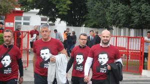 Članovima stručnog štaba FK Sarajeva opomena zbog majica s likom Vedrana Puljića