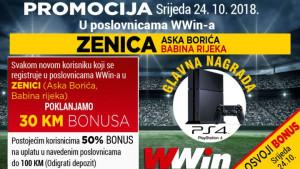 Wwin nagrađuje igrače iz Zenice: Osvojite Play Station 4 i vrijedne bonuse
