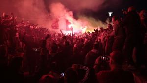 Navijači Dynama grafitom čestitali titulu FK Sarajevo