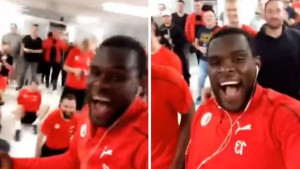 Ludnica u svlačionici Slavije kada su saznali da igraju protiv Chelseaja