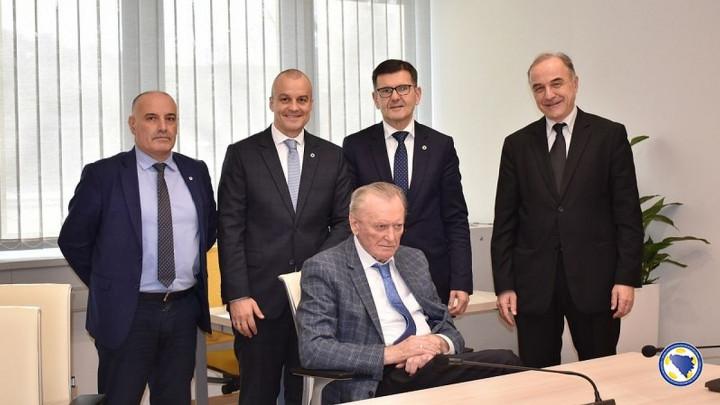 Ivica Osim posjetio novu zgradu Fudbalskog saveza BiH