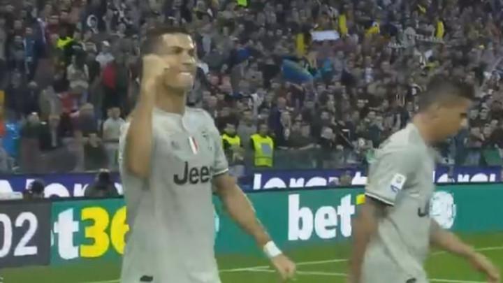 Ronaldo zakucao loptu, a po slavlju se da zaključiti kako je gol došao u pravo vrijeme