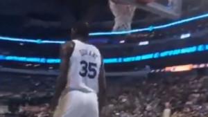 Snimak iz publike je sve otkrio: Šta je Durant uradio navijaču Dallasa?