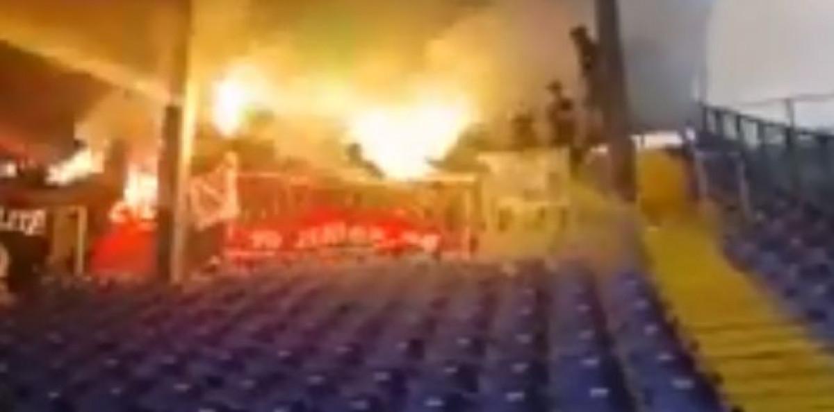 Robijaši napravili vatrenu atmosferu na Grbavici: Čeliku podrška nije izostala
