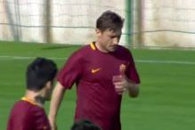 Ko zna, zna: Totti postigao eurogol na trening utakmici Rome
