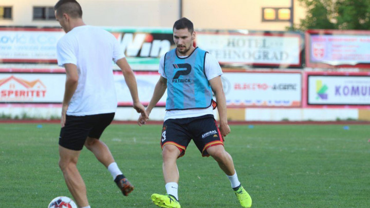 Novi fudbaler na treningu Slobode
