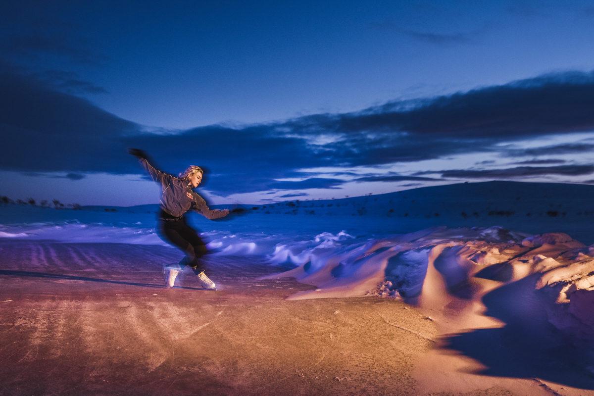 """Impresivan """"arktički ples"""" finske klizačice pod polarnom svjetlošću"""