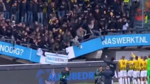 Gostujući navijači u Holandiji slavili pobjedu sa igračima, tribina nije 'izdržala'