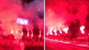 Bakljada i vatromet: Manijaci napravili spektakl na Grbavici povodom rođendana Ivice Osima