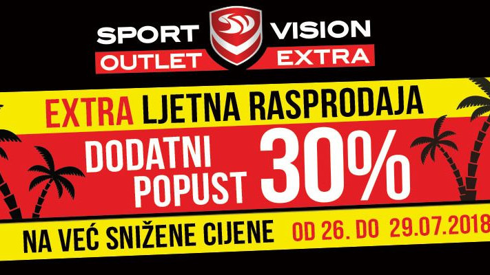 Ljetna rasprodaja u Sport Vision Outlet Extra