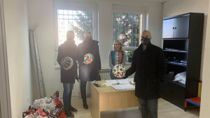 Donacija za SOS dječije selo od Udruženja fudbalskih sudija i instruktora KS
