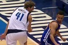 Curryjeva žrtva je ovoga puta bio Dirk Nowitzki