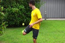 Pjanić je majstor i sa lopticom za tenis
