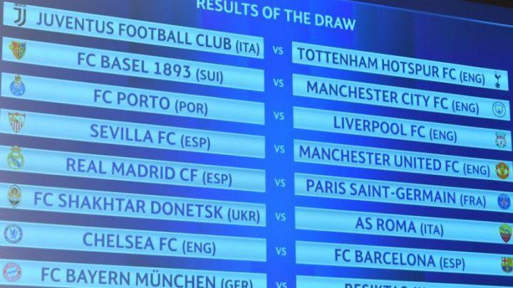 UEFA potvrdila termine utakmica osmine finala