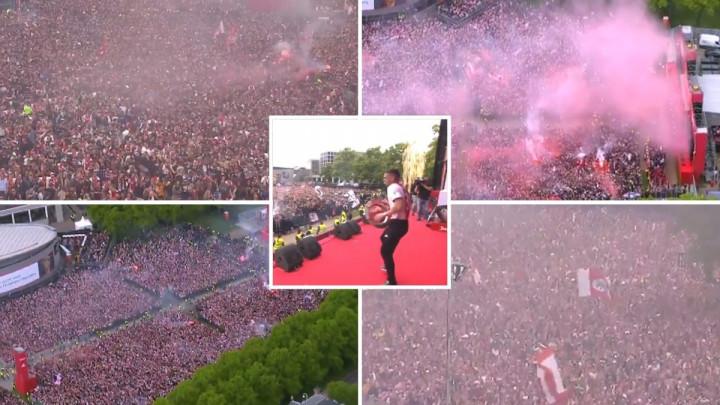 Spektakularne scene iz Amsterdama: Ajax slavi duplu krunu, trese se čitav grad!