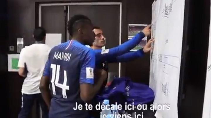 Griezmann na poluvremenu finala Mundijala objašnjavao taktiku Matuidiju