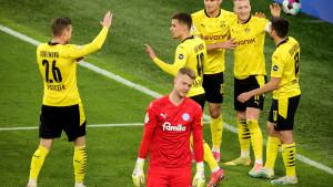 Borussia deklasirala Kiel, s Leipzigom za trofej