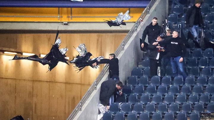 Huligani uništili koreografiju navijača Eintrachta