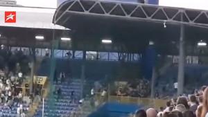 Sukob na sjevernoj tribini stadiona Grbavica