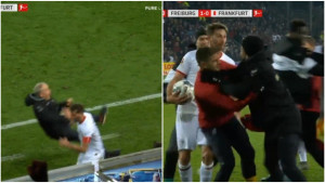 Igrač Eintrachta napravio neviđenu glupost pred kraj meča i izazvao opšti haos na terenu