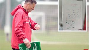 Pogledajte taktiku koju je Ibro Rahimić nacrtao svojim igračima pred susret protiv Borca