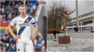 Navijači Malmea sa riječi prešli na djela: Daska za WC šolju završila na statui Ibrahimovića