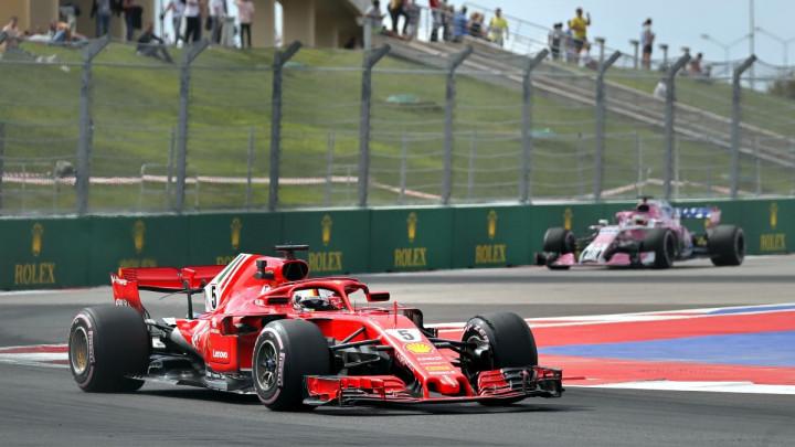 Vettel najbrži na prvom treningu u Rusiji