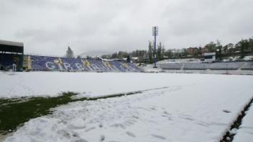 Grbavica prekrivena snijegom