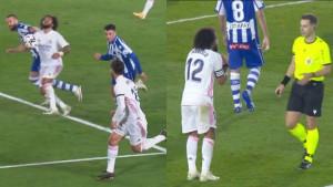 Pao kao pokošen: Marcelo je tražio penal jer je povučen za kosu