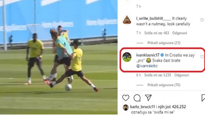 Klasnić urnebesnim komentarom na Rakitićevu majstoriju osvojio preko hiljadu lajkova