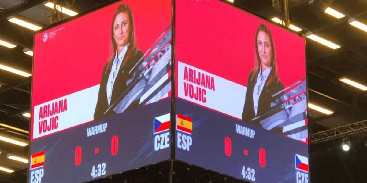 Arijana Vojić u ulozi delegata na utakmici Hrvatska - Danska