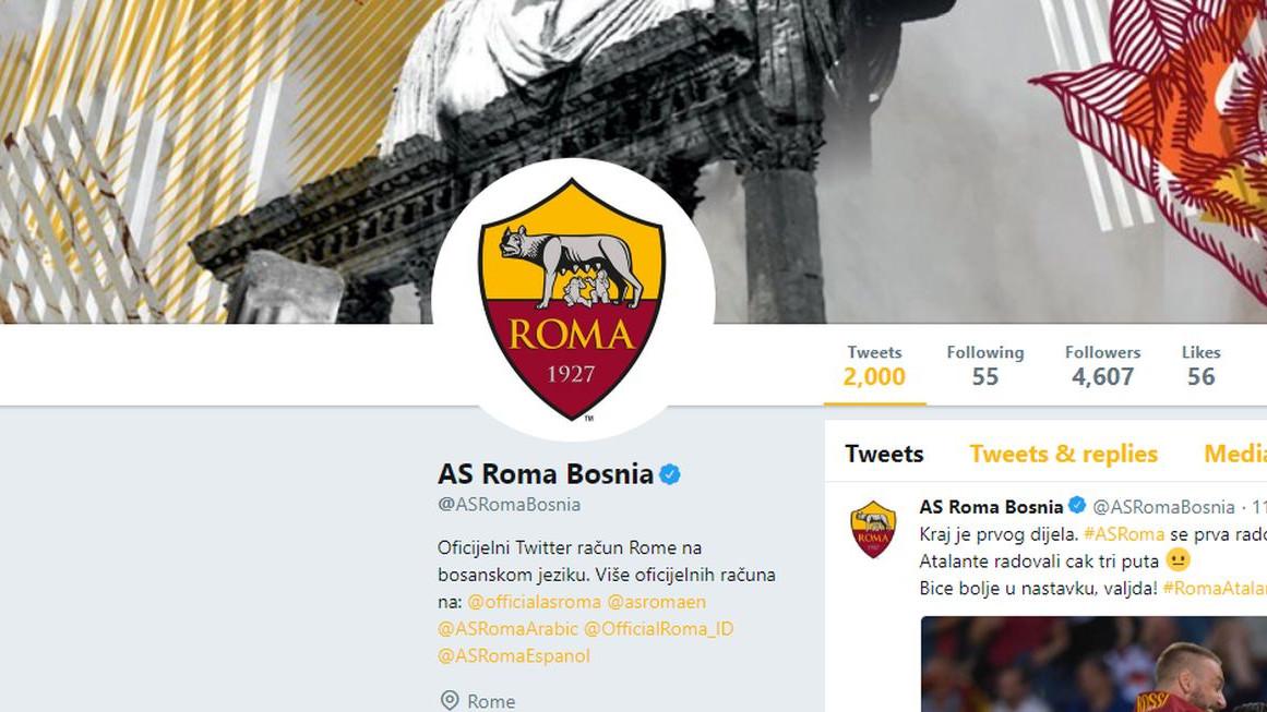 Admin Rominog Twittera na bosanskom jeziku večeras dominira