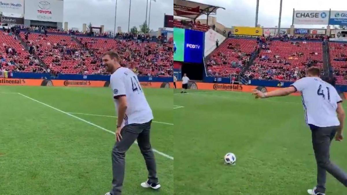 Nowitzki se okušao u nogometu, Dončić nije mogao vjerovati šta je upravo vidio