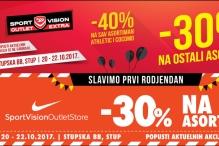 Najveći Sport Vision outleti u Sarajevu slave 1. rođendan