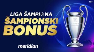 Meridian najveće kvote na planeti za Champions League: Chelsea 2.00, Bayern M. 2.50! Bonus 20%!