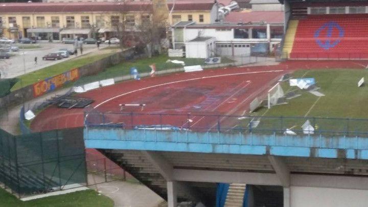 Olujni vjetar napravio štete na stadionu Borca