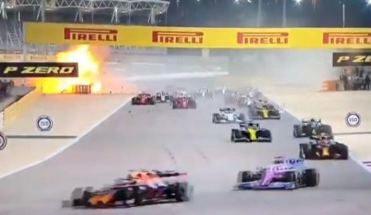 Haos u Bahreinu: Eksplodirao bolid Romaina Grosjeana, utrka odmah prekinuta
